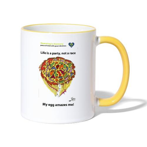 Life is a party, not a race - Taza en dos colores