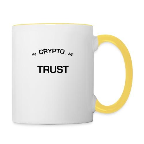 In Crypto we trust - Mok tweekleurig