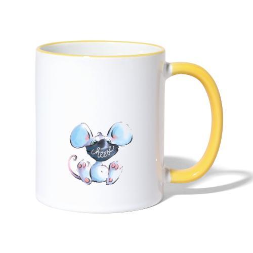 Maskenmaus - Tasse zweifarbig