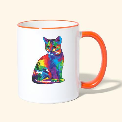 Gato fantástico - Taza en dos colores
