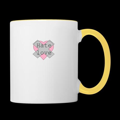 Hate love - Taza en dos colores