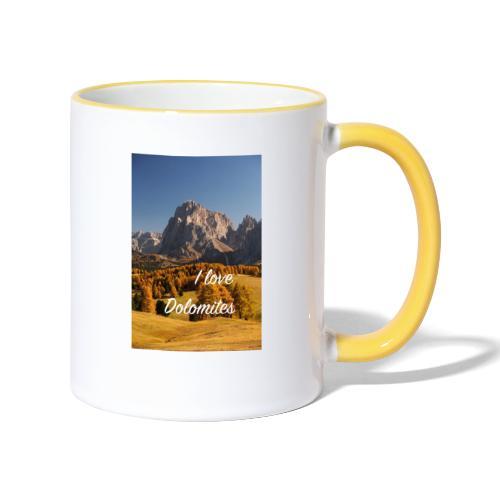 Langkofel - Wahrzeichen Südtirols - Tasse zweifarbig