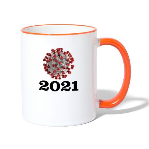 Virus 2021 - Tasse zweifarbig