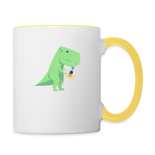 Tea-Saurus - Tasse zweifarbig
