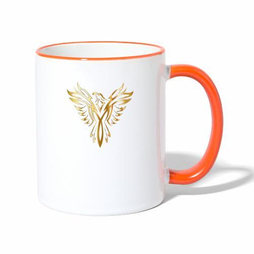 Złoty fenix - Kubek dwukolorowy