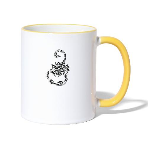 Skorpion - Tasse zweifarbig