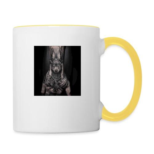 hund - Tasse zweifarbig