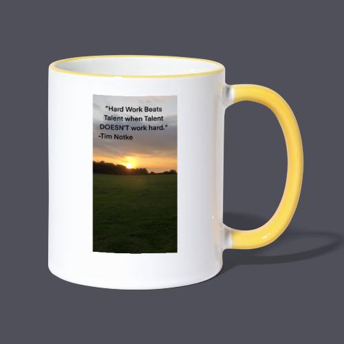 Famous Quote from Tim Notke - Contrasting Mug