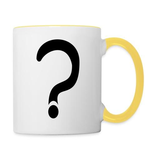 fragezeichen, wieso weshalb warum - Tasse zweifarbig