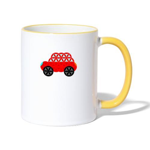 The Car Of Life - M01, Sacred Shapes, Red/R01. - Contrasting Mug