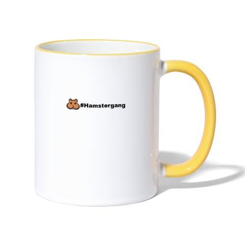 Hamstergang - Tasse zweifarbig