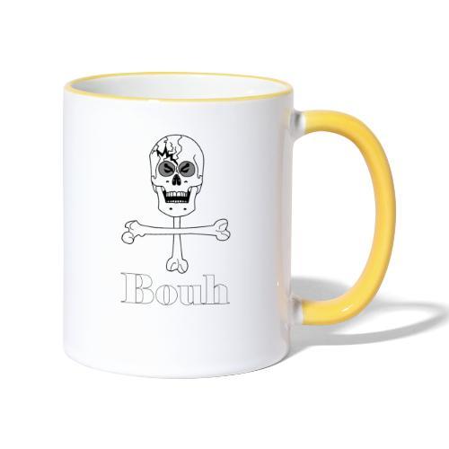Crâne et croix d'os … Halloween fais moi peur FS - Mug contrasté