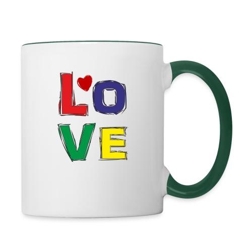LOVE - Tasse zweifarbig