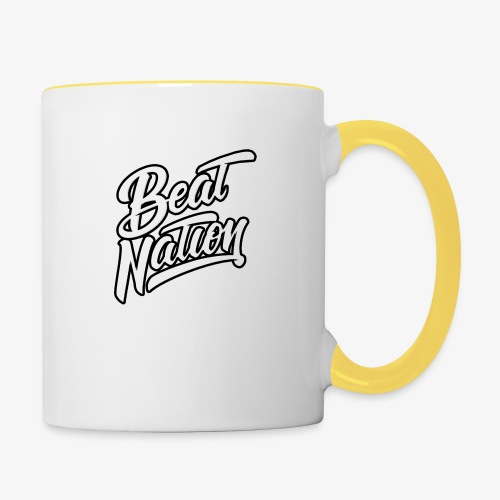 Logo Officiel Beat Nation Blanc - Tasse zweifarbig