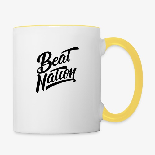 Logo Officiel Beat Nation Noir - Tasse zweifarbig