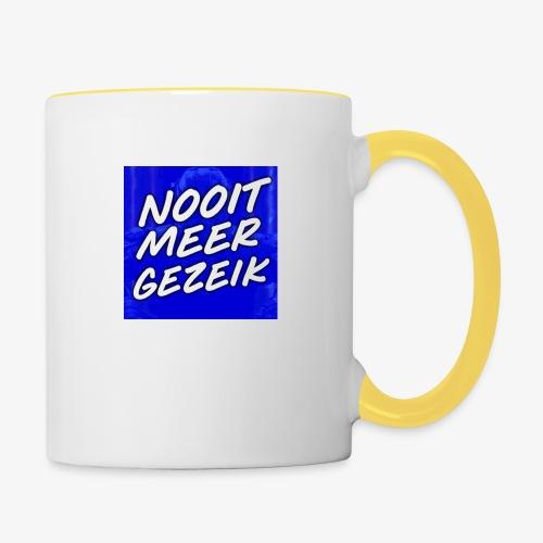 De 'Nooit Meer Gezeik' Merchandise - Mok tweekleurig