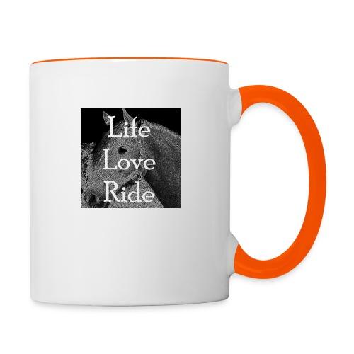 Life Love Ride - Tasse zweifarbig