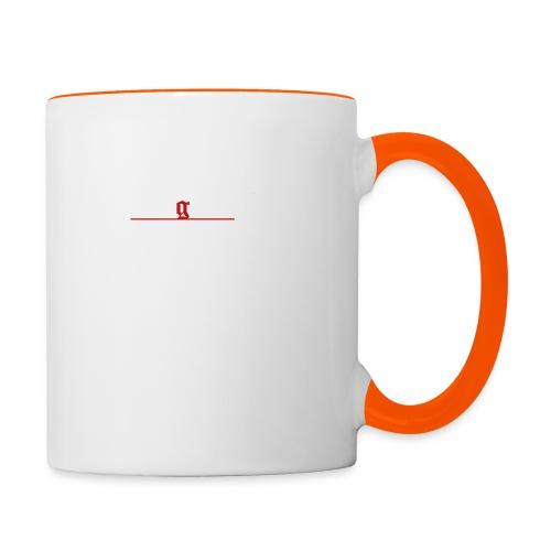 1312 T-Hemd [Druck beidseitig] - Tasse zweifarbig
