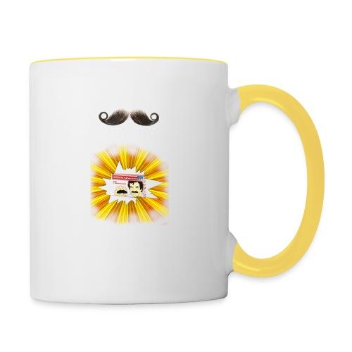 Moustache ad - Contrasting Mug
