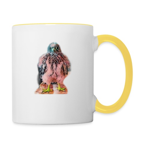 Pink bird growing 2 - Tasse zweifarbig