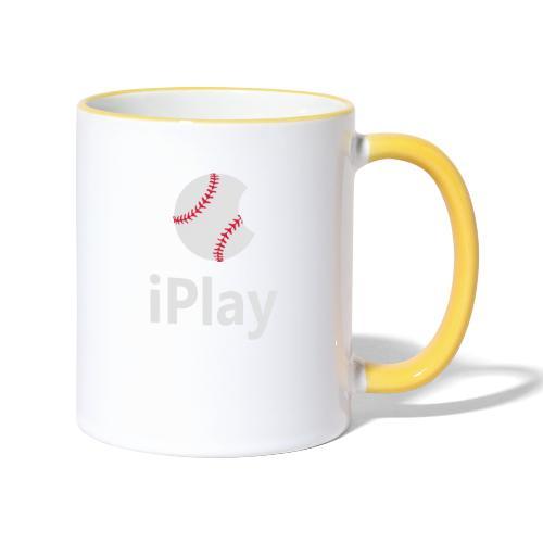 Baseball Logo iPlay - Contrasting Mug