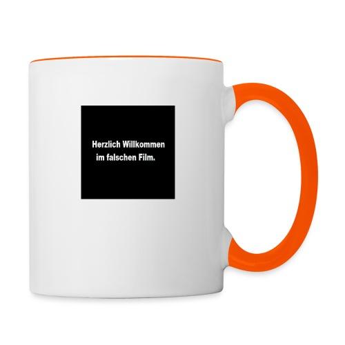 Willkommen im Falschen Film - Tasse zweifarbig
