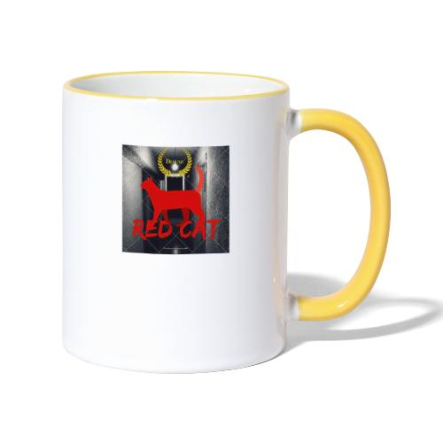 Red Cat (Deluxe) - Contrasting Mug