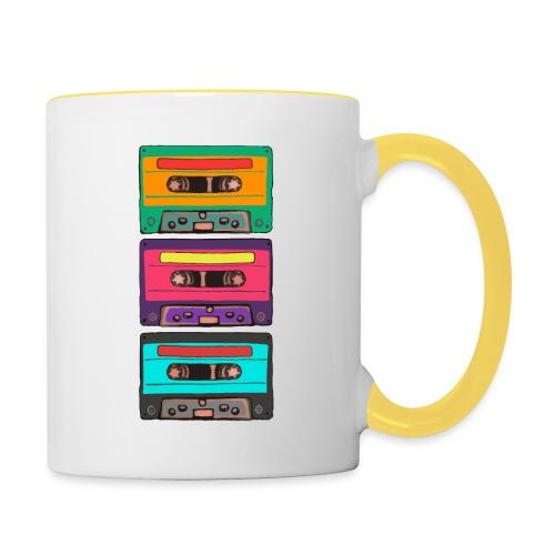 Colorful Cassettes row - Tvåfärgad mugg