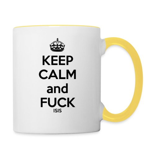 Keep calm and F*ck ISIS - Mug contrasté
