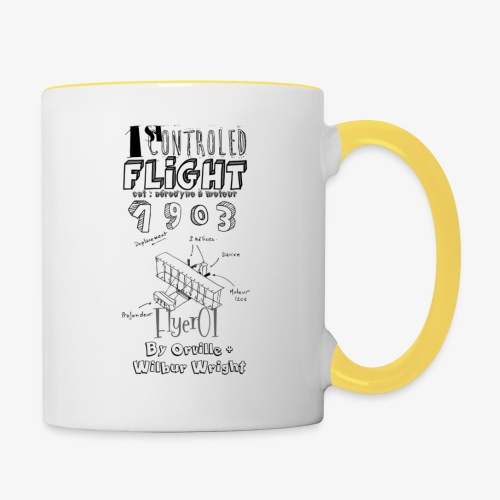 1stcontroled flight - Mug contrasté