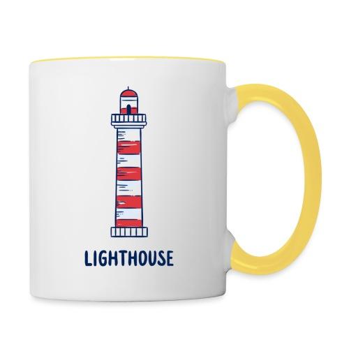 Lighthouse - Tasse zweifarbig