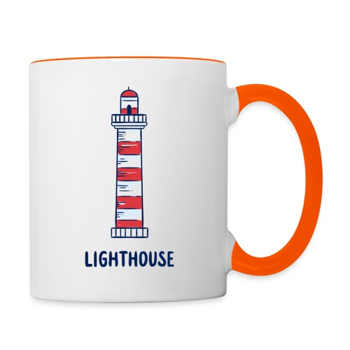 Lighthouse - Tasse zweifarbig