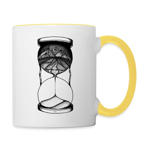 Time is running out! - Tasse zweifarbig