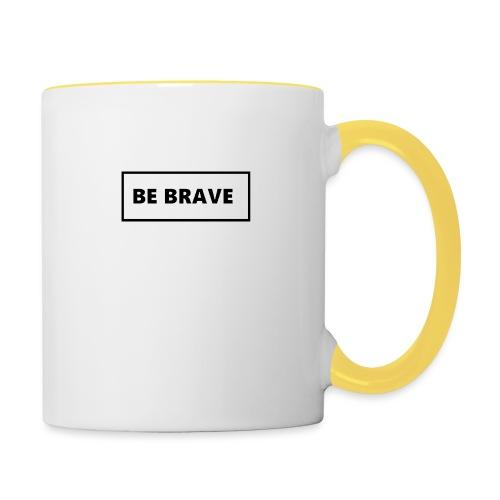 BE BRAVE Tshirt - Mok tweekleurig
