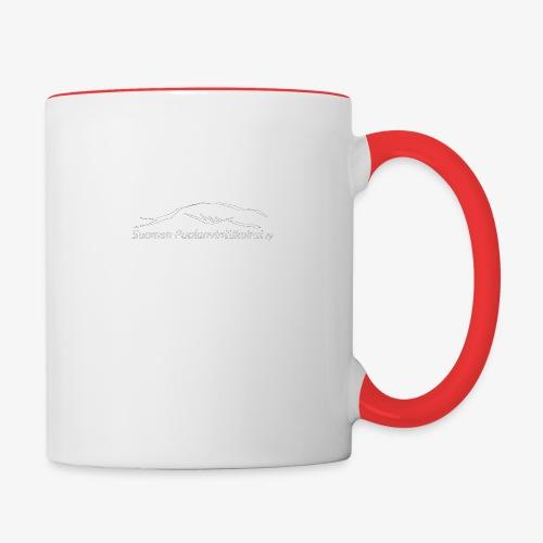 SUP logo valkea - Kaksivärinen muki