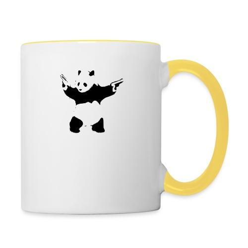 oso panda pistolas - Taza en dos colores