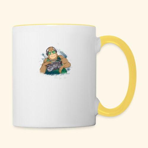 Gorilla Jungle Hiphop - Taza en dos colores