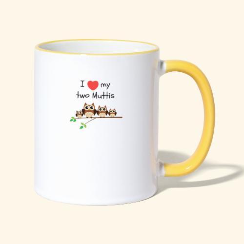 I love my two Muttis - Mug contrasté