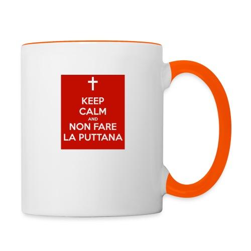 keep-calm-and-non-fare-la-puttana - Tazze bicolor
