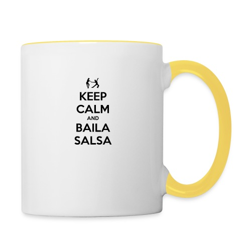 keep-calm-and-baila-salsa-41 - Tazze bicolor