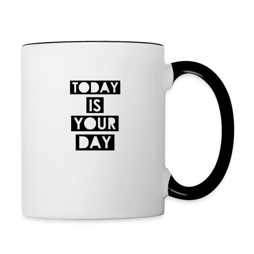 Official Design Kompas Today is your day - Mok tweekleurig
