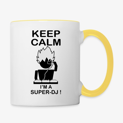 KEEP CALM SUPER DJ B&W - Mug contrasté