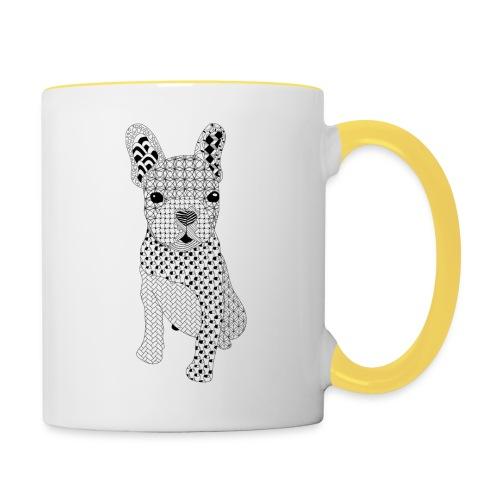 Bulldog puppy patroon - Mok tweekleurig