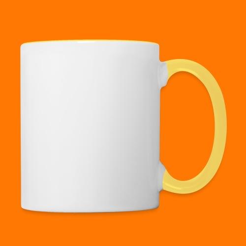 SCP-sign-WHITE transp - Contrasting Mug