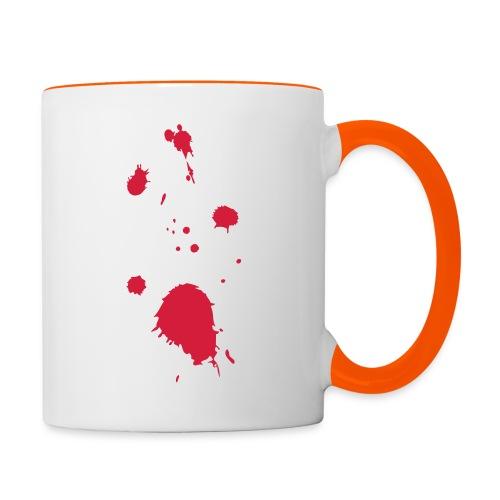 blut - Tasse zweifarbig