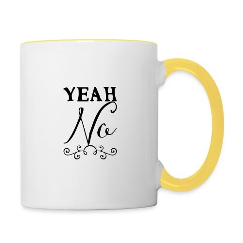 Yeah No - Contrasting Mug