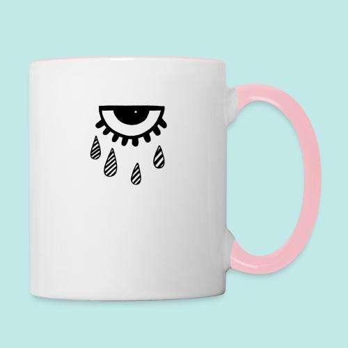larmes oeil triste motif - Mug contrasté