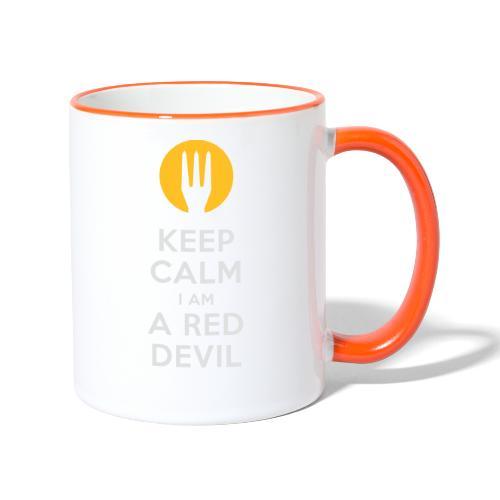 keep calm Belgique - Belgium - Belgie - Mug contrasté