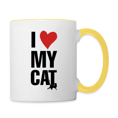 I_LOVE_MY_CAT-png - Taza en dos colores