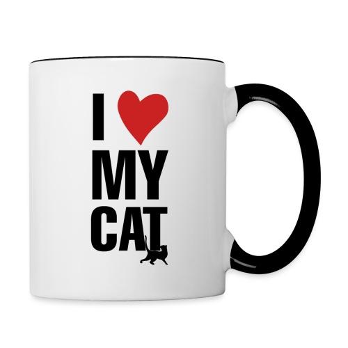 I_LOVE_MY_CAT-png - Taza en dos colores